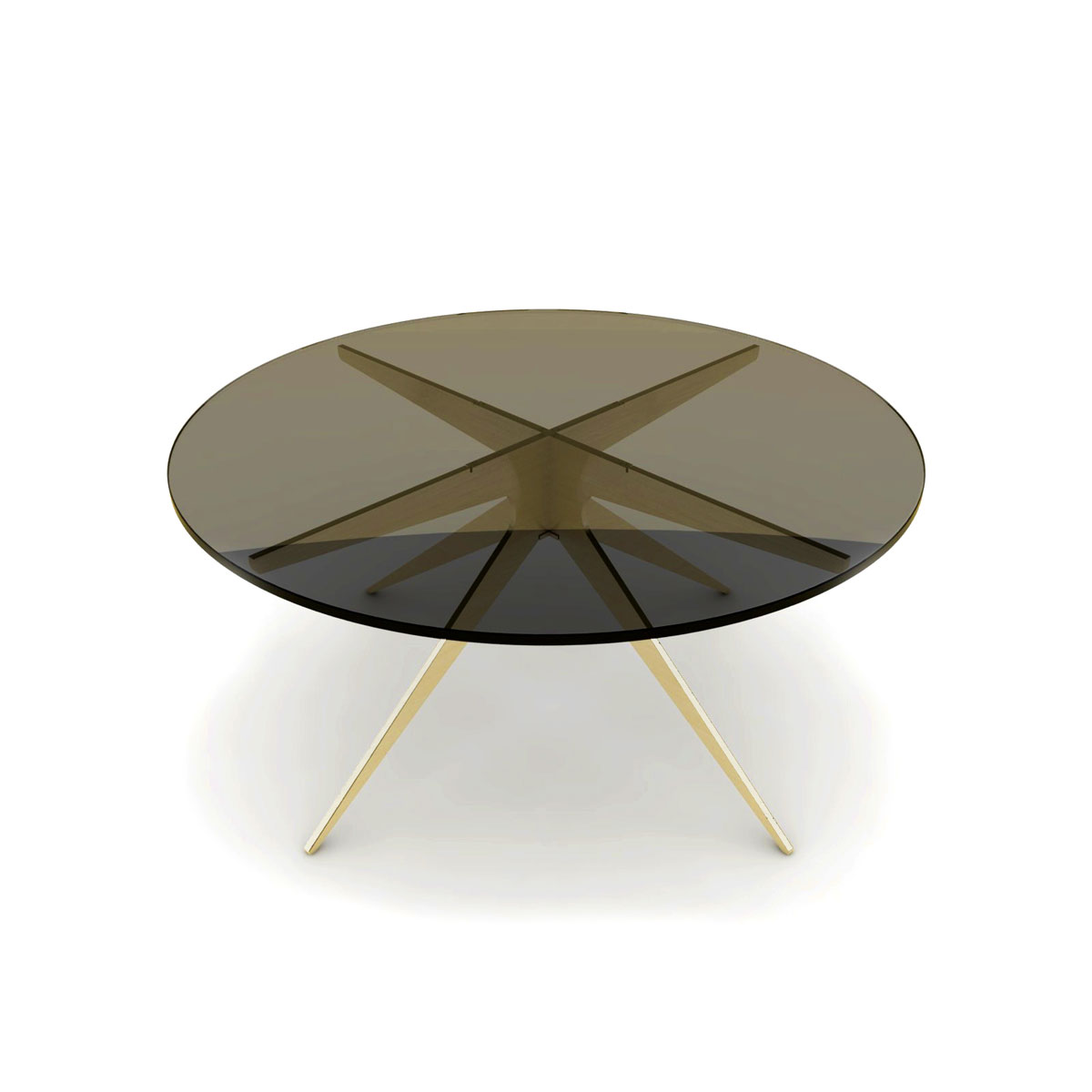 Dean round coffee table   brass  bronzed