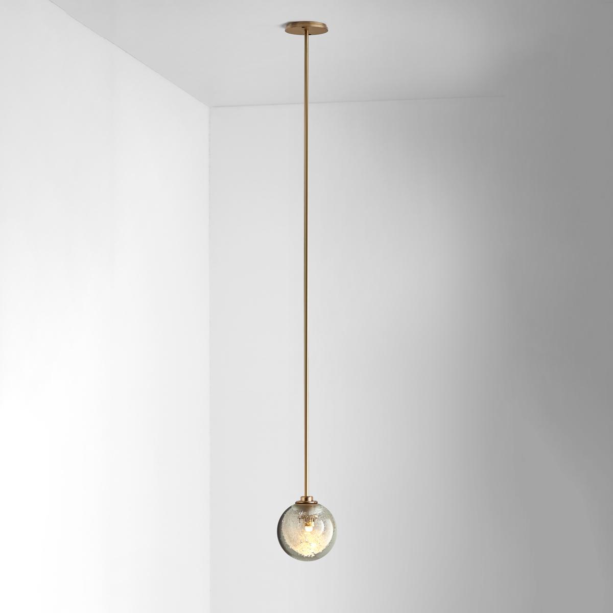 Hero articolo lighting fizi pendant single ball brass rod on