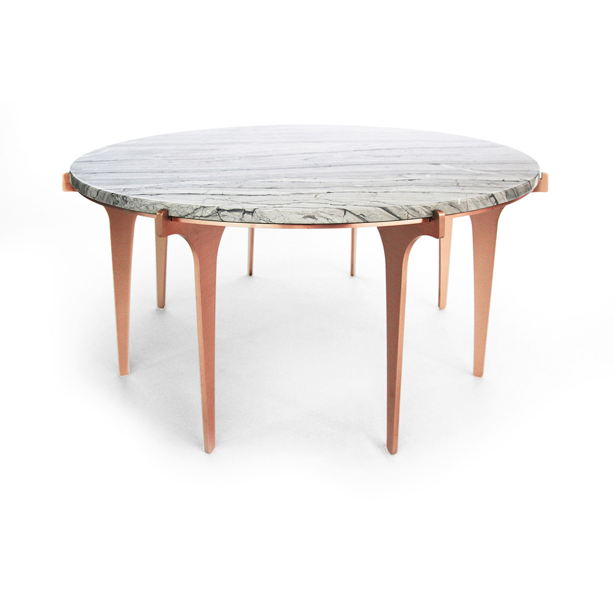 Prong coffee table   copper