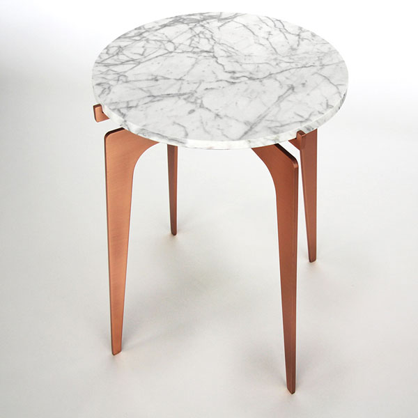 Prong side table   copper   white thumb