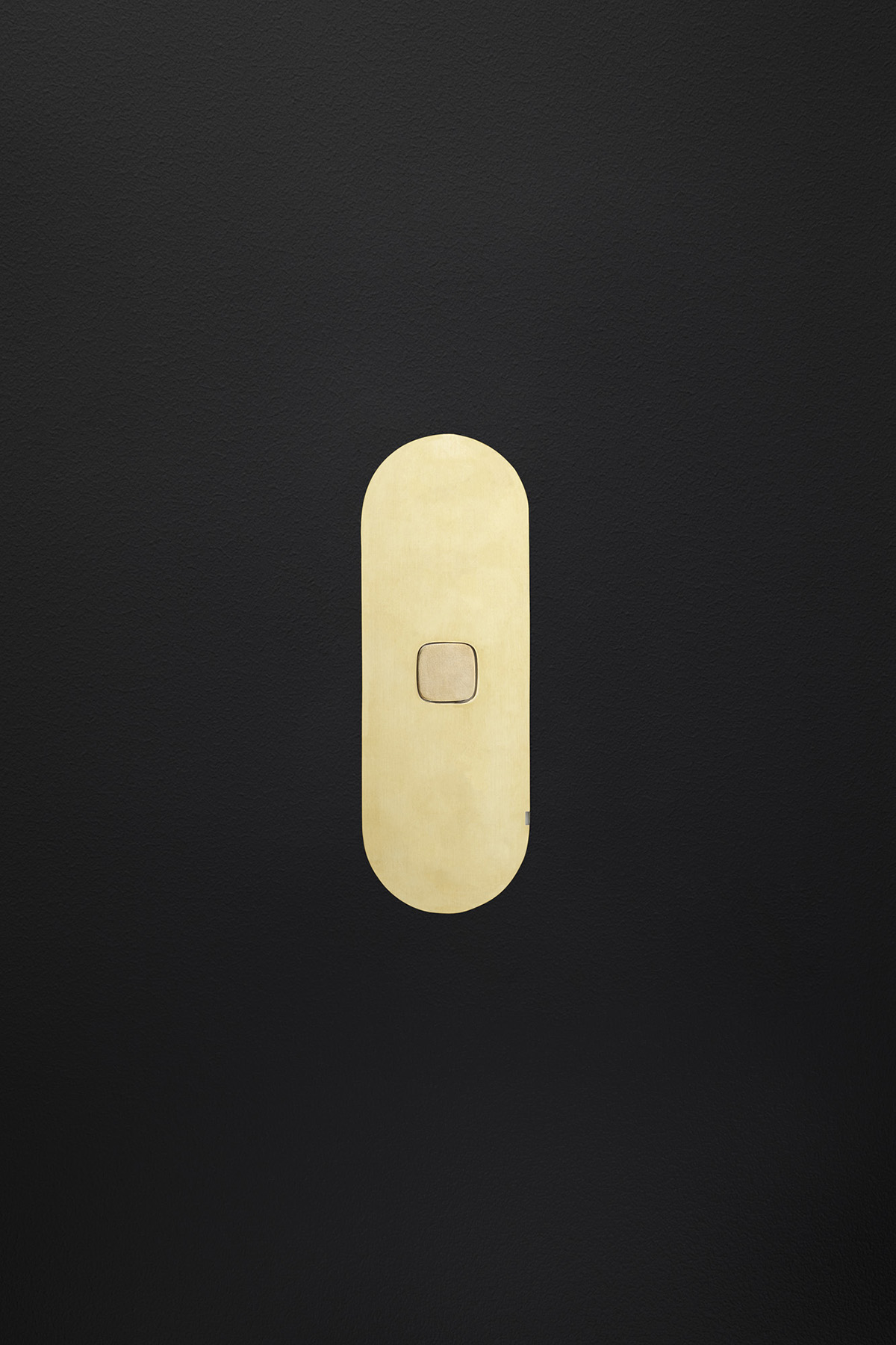 Single gang switch brass black board