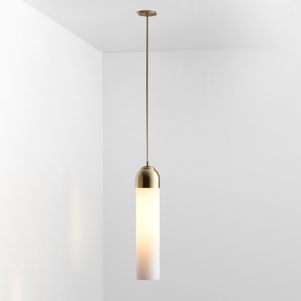 Thumb articolo lighting float capped pendant snow brass on