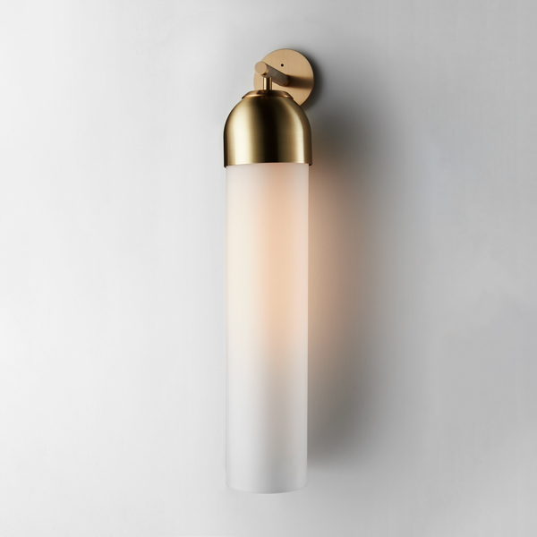 Thumb articolo lighting float capped wall sconce snow brass on