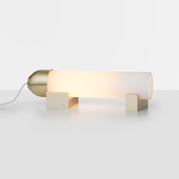 Thumb articolo lighting float lying down table lamp snow brass on