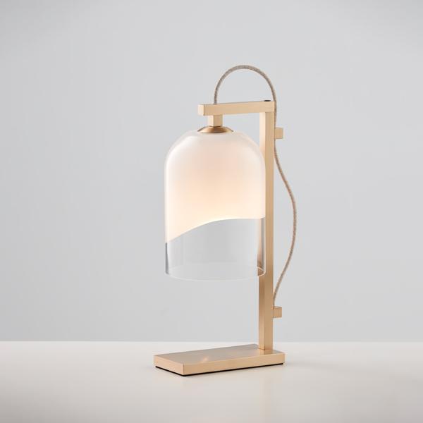 Thumb articolo lighting moni table lamp white clear brass natural linen flex on