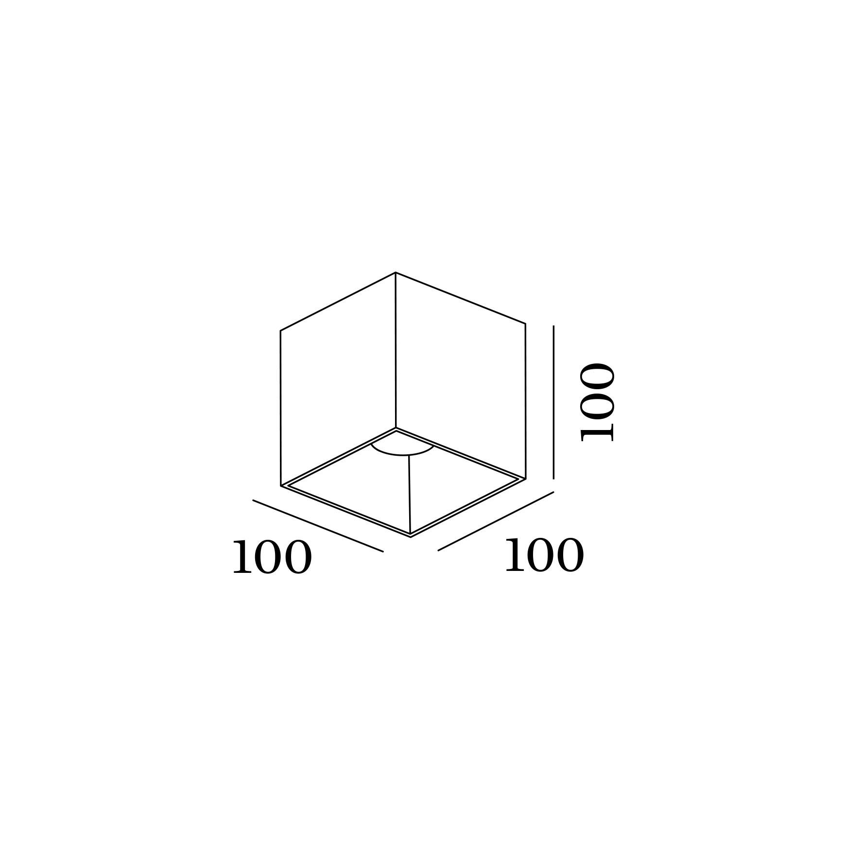 Box ceiling surface 1.0 led