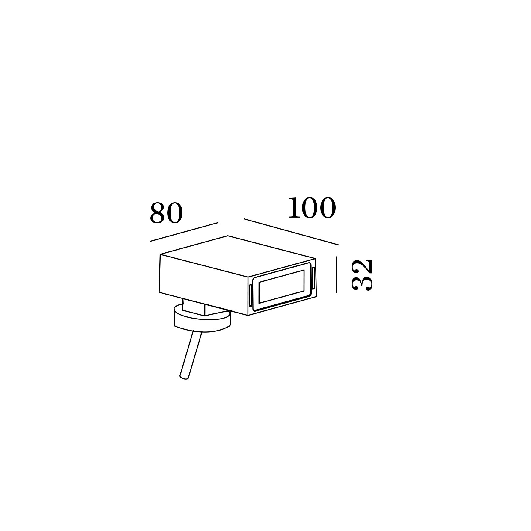 Stake exterior floor projector 1.0