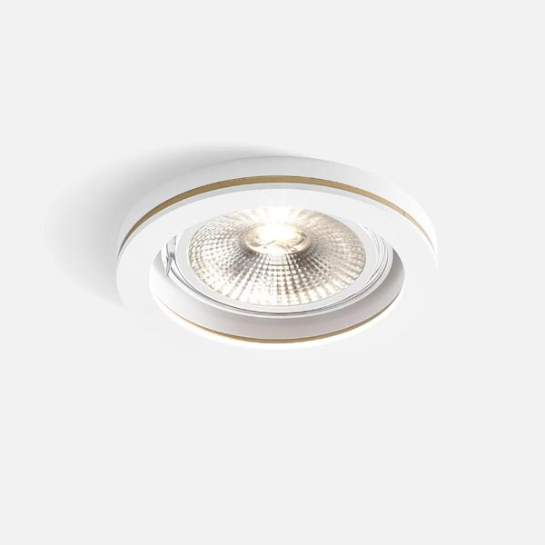 Thumb cocoz round 1.0 led111 white texture gold 2700k