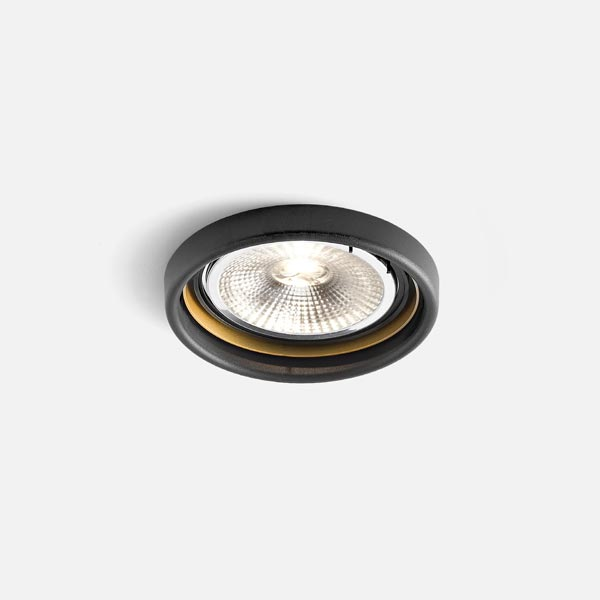 Thumb oboq round 1.0 led111 black texture gold 2700k