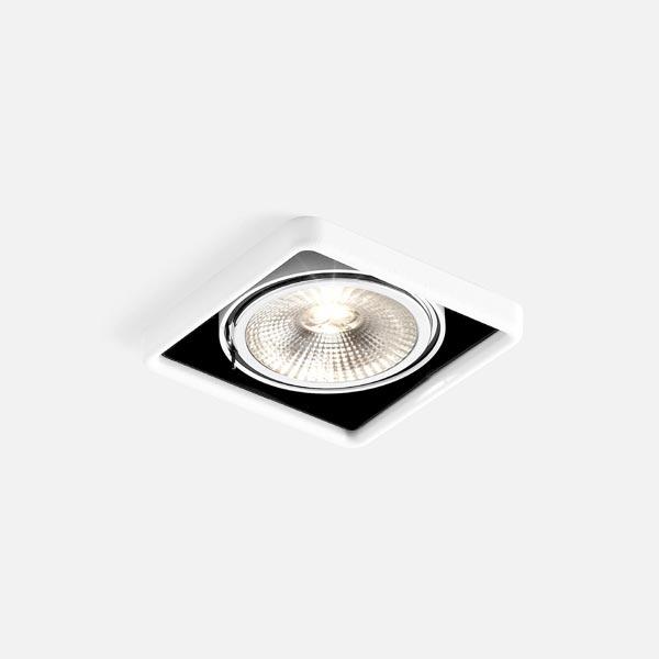 Thumb oboq square 1.0 led111 white texture black 2700k