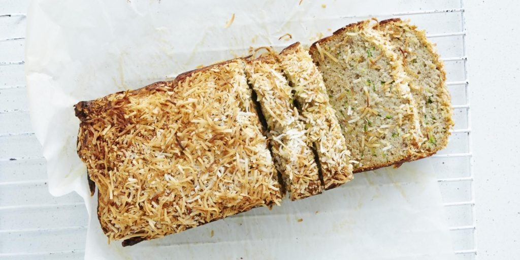 I Quit Sugar - Zucchini + Coconut Lunchbox Bread