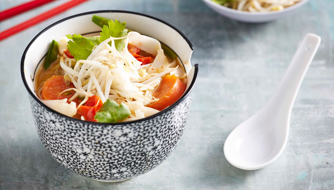 Vegetarian Laksa with Rice Noodles