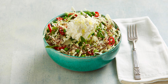 Quinoa and Fennel Salad with Chilli and Lemon Ricotta