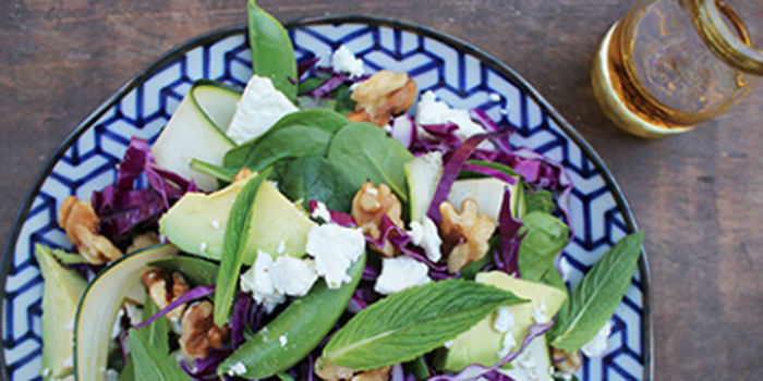 Green and Purple Summery Salad