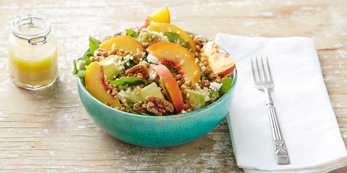 Lentil, Quinoa and Peach Salad