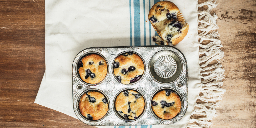 I Quit Sugar - Triple Coconut Blueberry Muffins