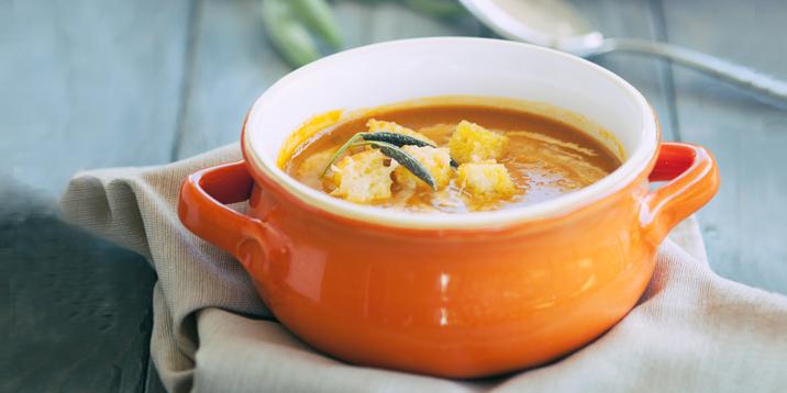 I Quit Sugar - Pumpkin Soup with Parmesan Croutons