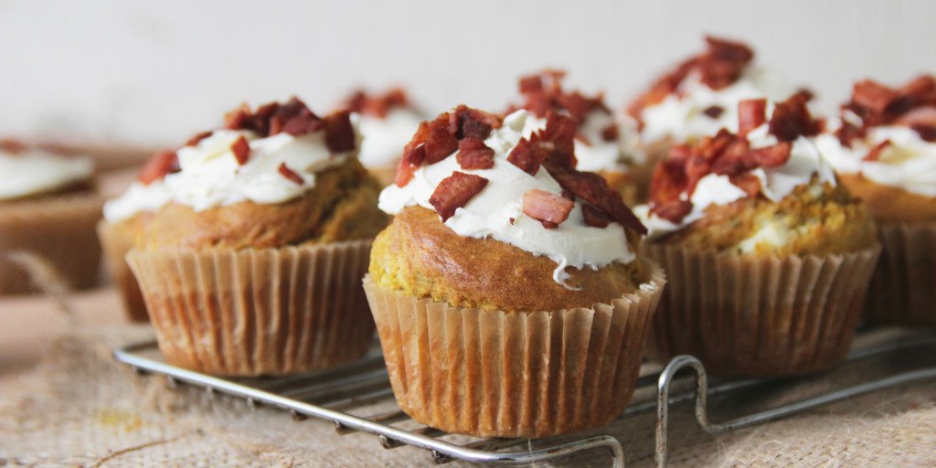 I Quit Sugar - Pumpkin Savoury Muffins with Bacon Sprinkles recipe
