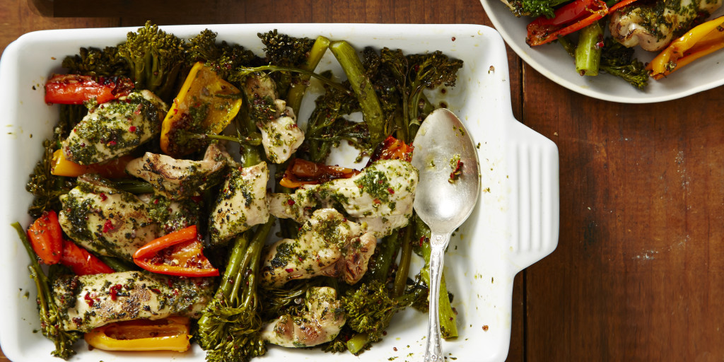 Chimichurri Chicken + Broccolini