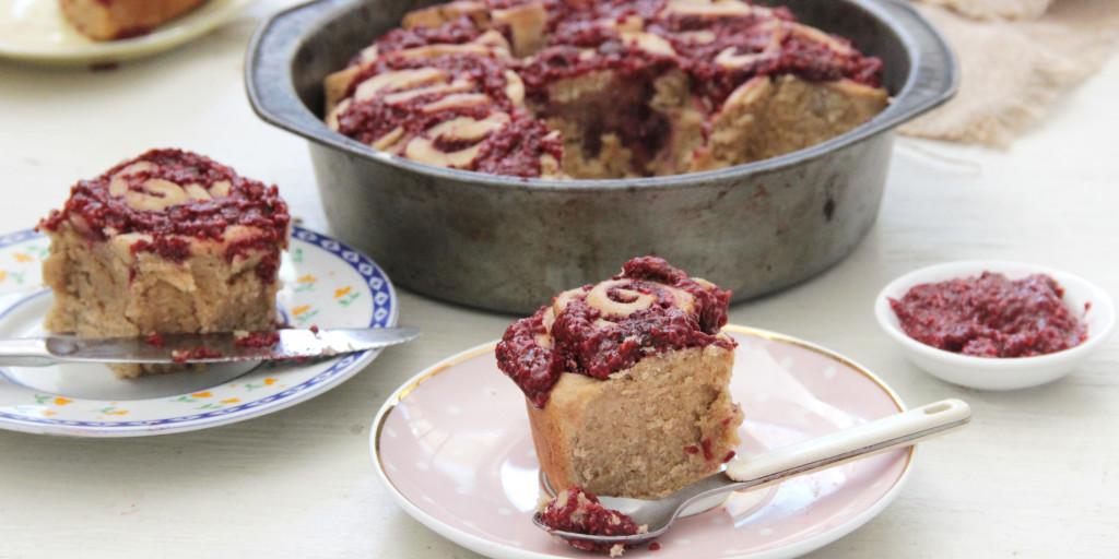 I Quit Sugar - Cardamom + Raspberry Chia Jam Scrolls recipe.