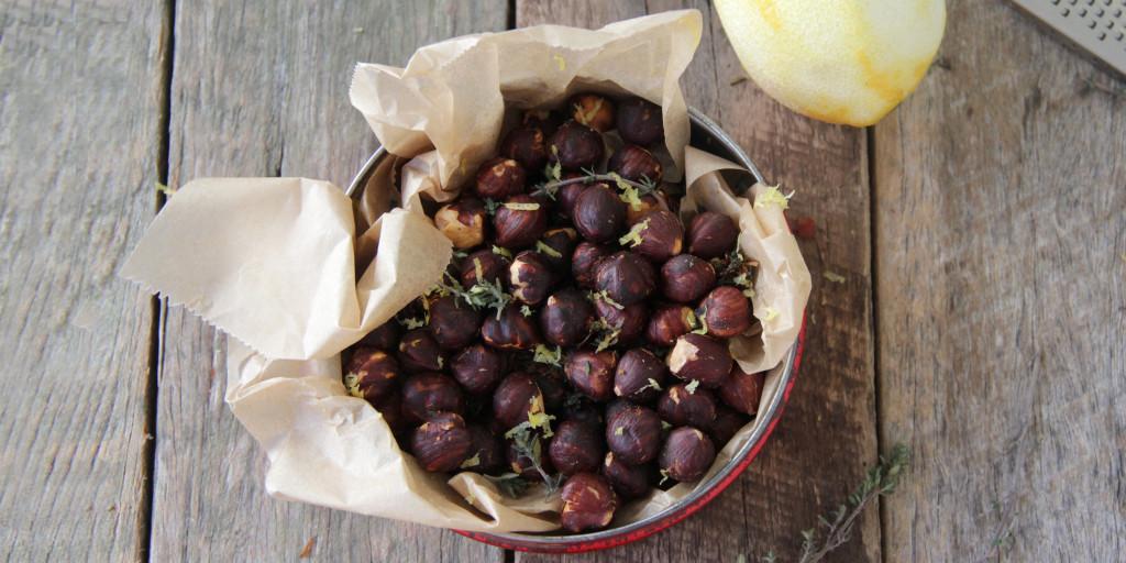 I Quit Sugar - Lemon Zest + Thyme Hazelnuts