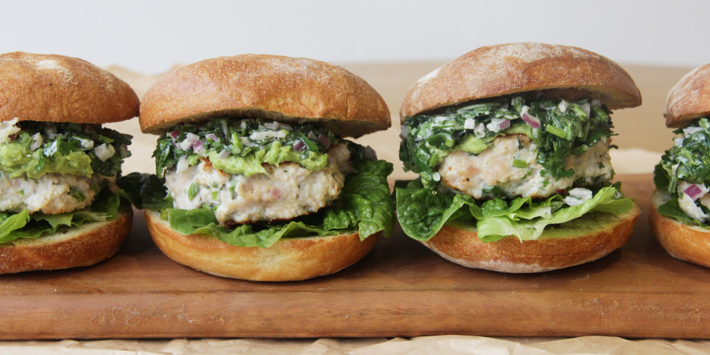 I Quit Sugar - Thai Chicken Burgers with Coriander Slaw