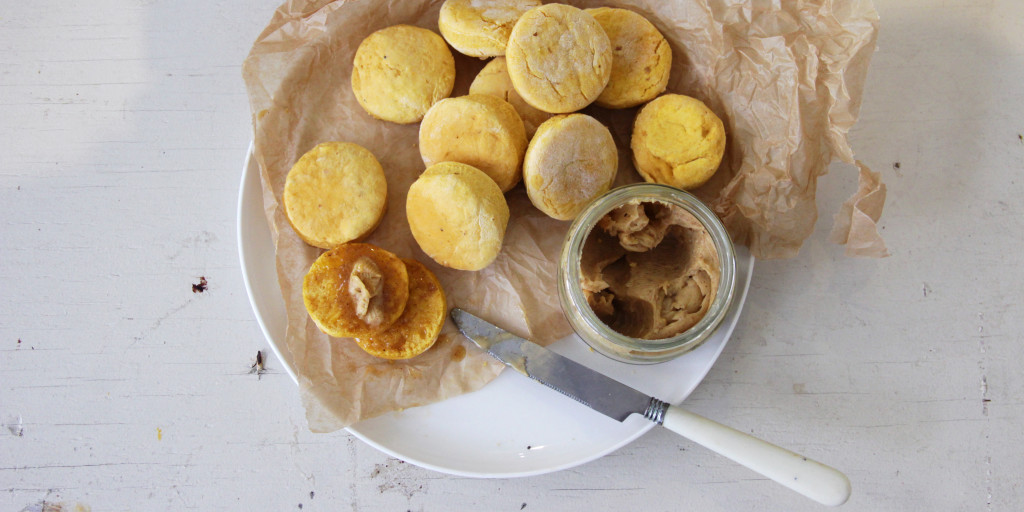 I Quit Sugar - High tea? Try our sugar free Pumpkin + Parmesan Scones with Cinnamon Butter