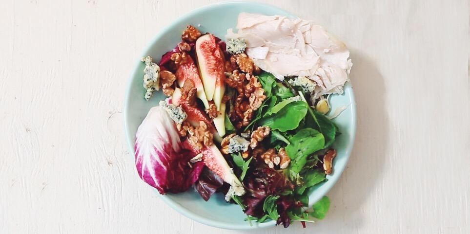 I Quit Sugar - 5-Minute Fig, Radicchio + Blue Cheese Salad