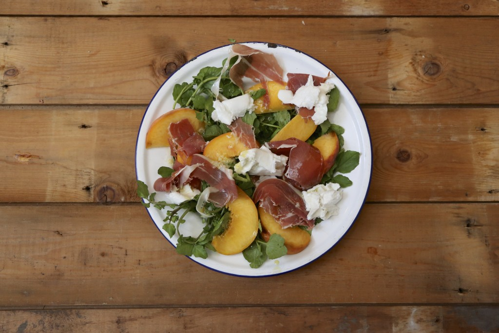 I Quit Sugar: Peachy Italian Salad with Lime Dressing recipe