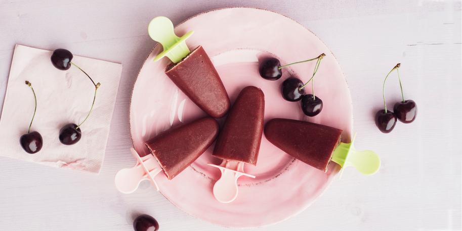 I Quit Sugar: Cherry Mudslide Popsicles recipe