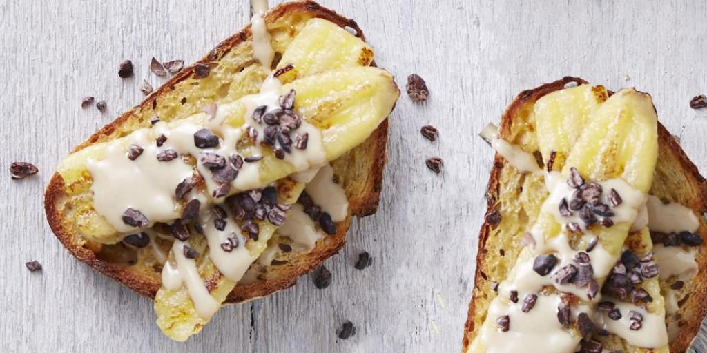 I Quit Sugar - Tahini, Banana + Cacao Nib Toastie recipe