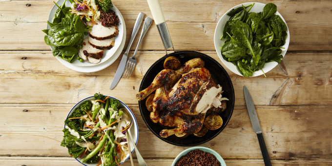 I Quit Sugar: Juicy Jerk Chicken with Broccolini Slaw