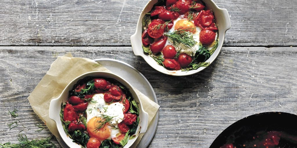 I Quit Sugar: Baked Eggs Spinach and Labneh