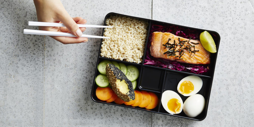 I Quit Sugar - Crispy Skin Trout Bento Box WP