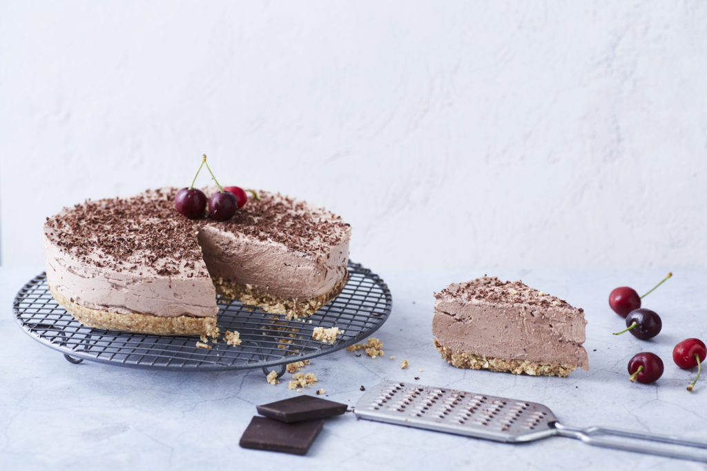 Chocolate Cherry Ripe Cheesecake - I Quit Sugar