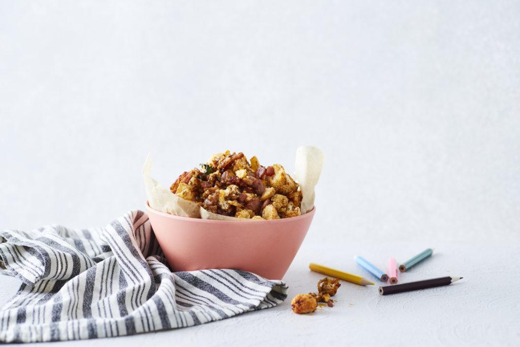 Crispy Bacon + Cauli Popcorn - I Quit Sugar
