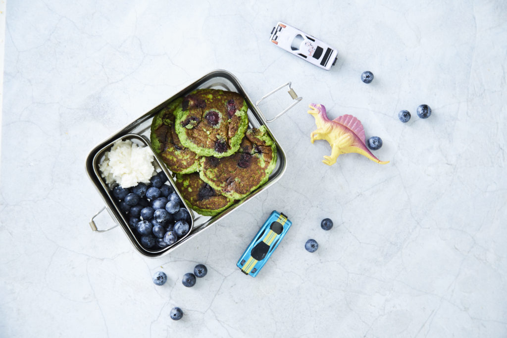 Lunchbox Blueberry Ricotta Pikelets - I Quit Sugar
