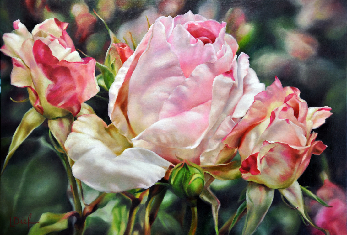 Wow Factor with Flowers in Oils | Lyn Diefenbach