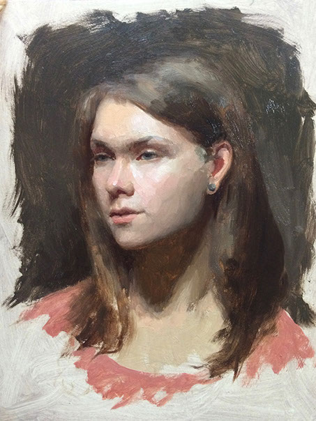 Portrait from Life in Graphite/Oils | Andrew Bonneau