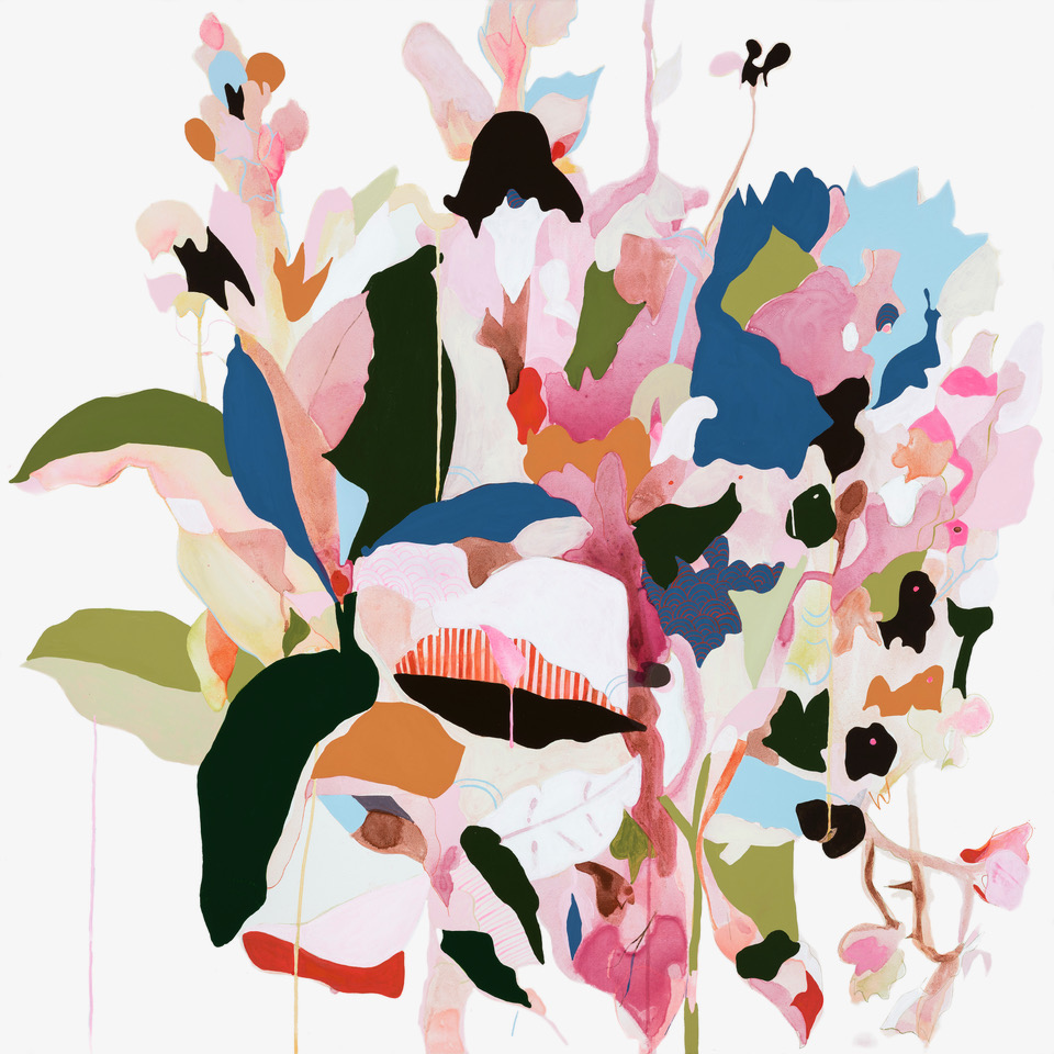 Abstracted Botanicals in Acrylic | Beth Kennedy
