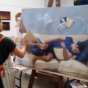Studio Painting | Marcel Desbiens