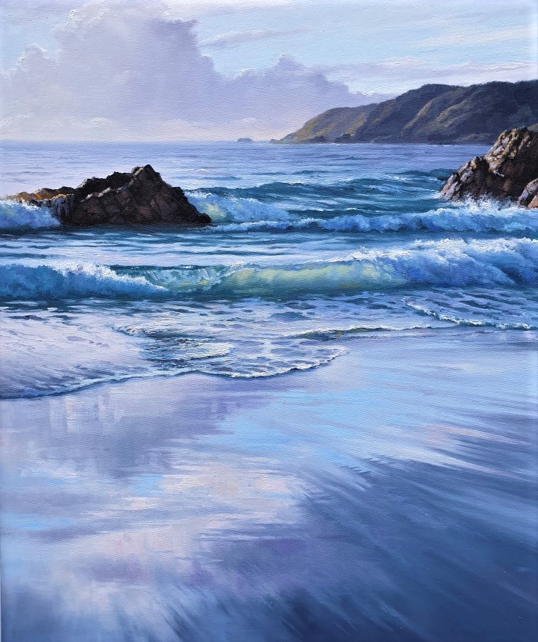 Translucent Waves in Oils | Robyn Collier