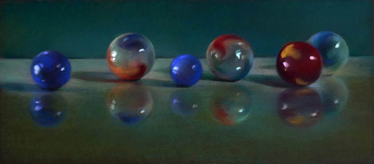 Reflective Surfaces with Pastel Pencils | Lyn Diefenbach