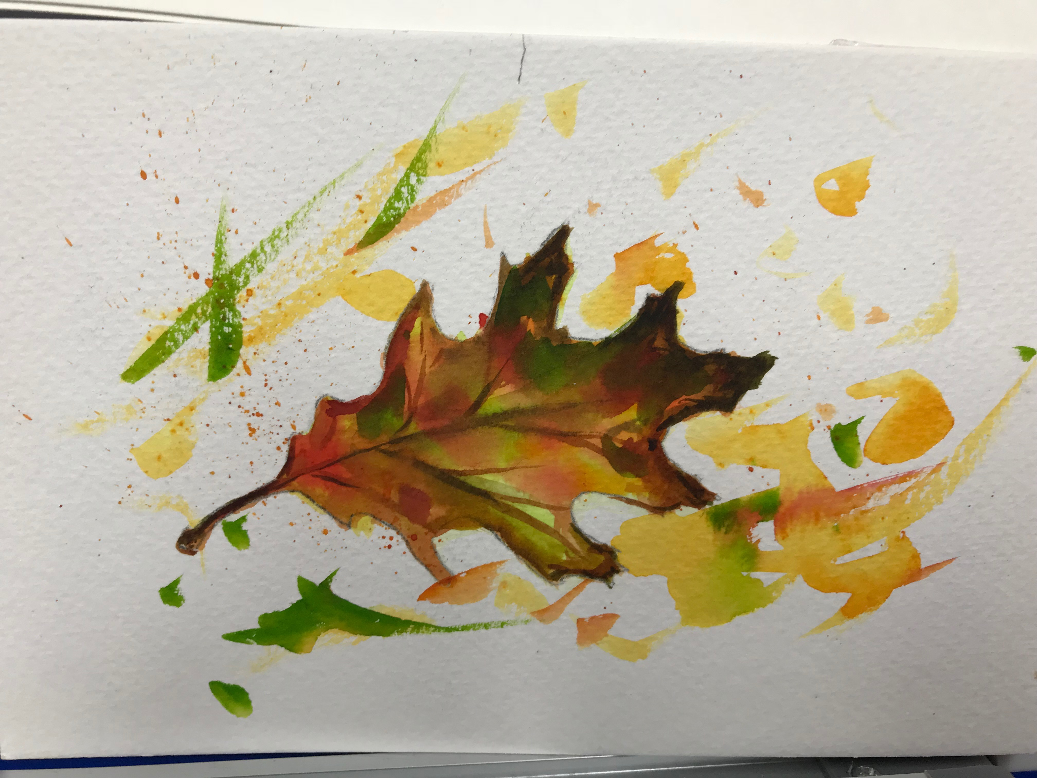 Relax with Watercolour (Paint & Sip) Autumn Leaves