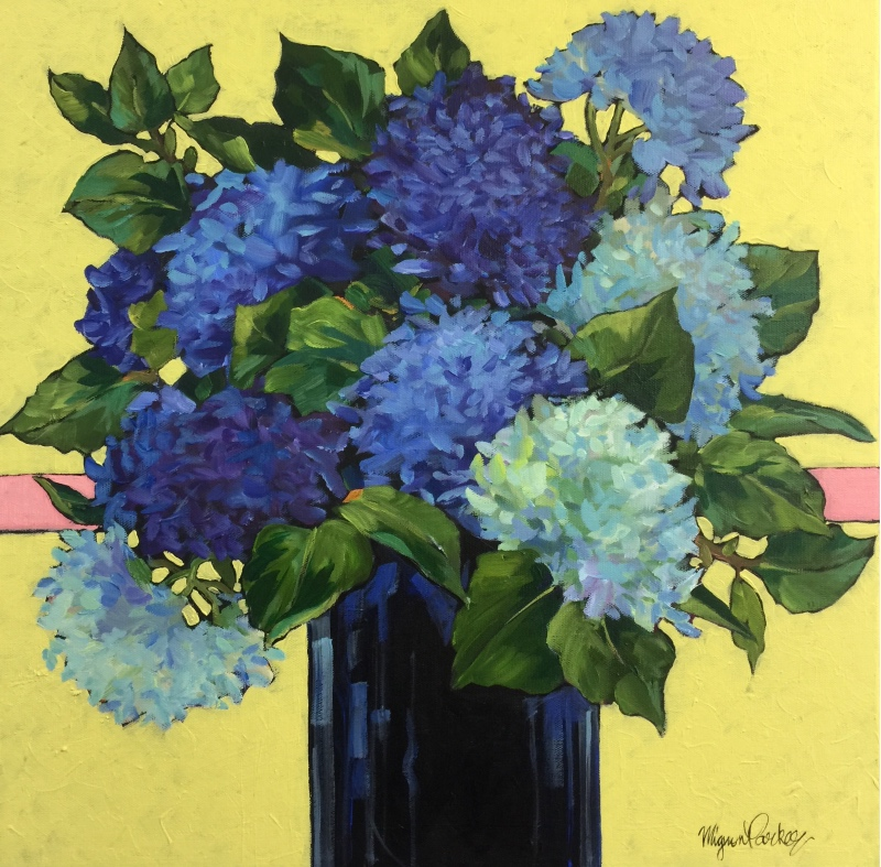 Bright Flower Impressions in Acrylics | Mignon Parker