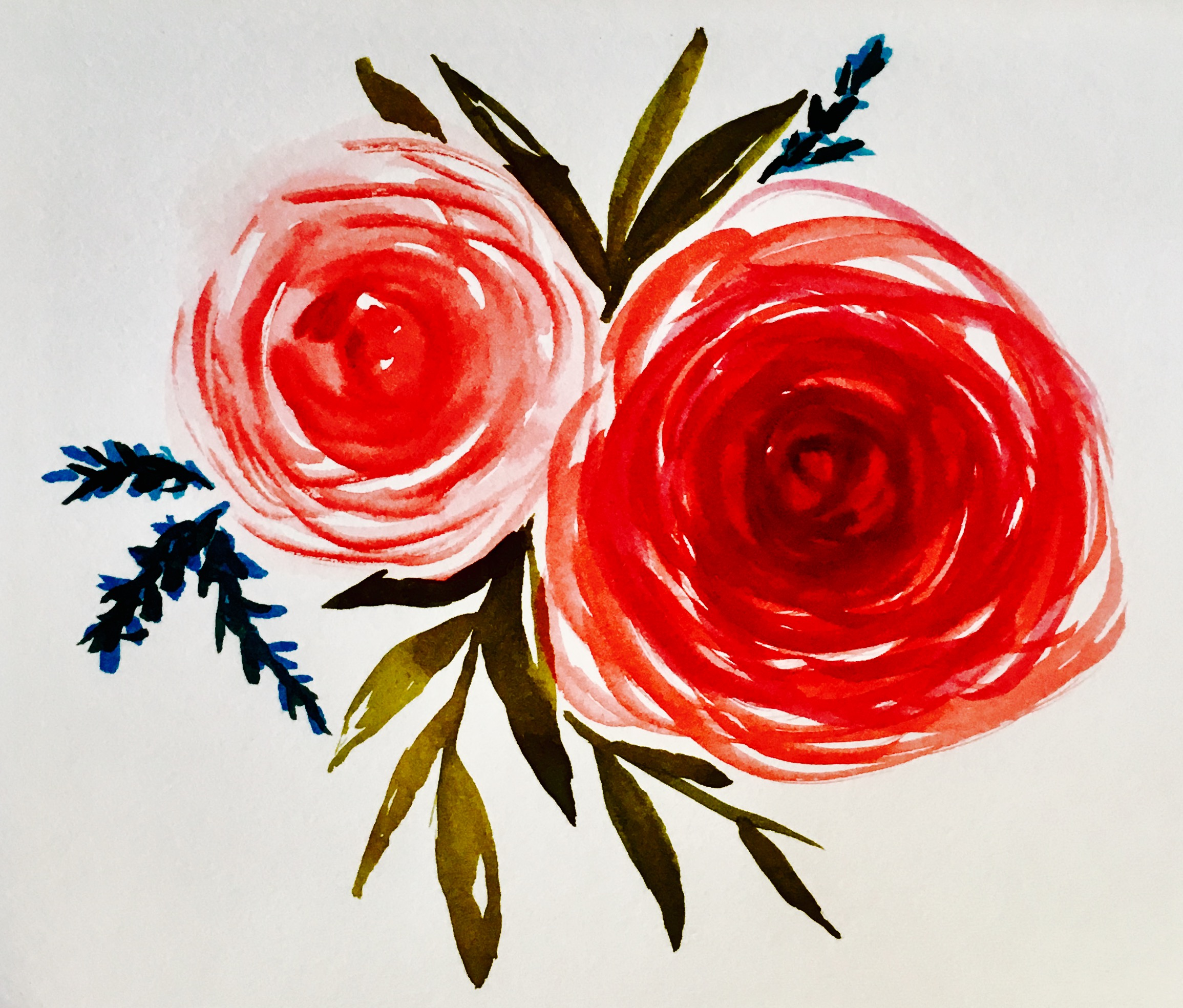 Relax with Watercolour (Paint & Sip) Simple Roses