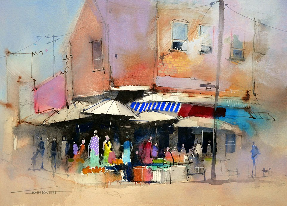 Water Based Painting Techniques Demo | John Lovett