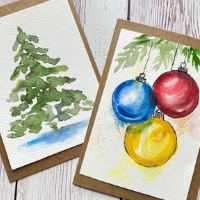 Watercolour Magic - Festive Cards - Online Class