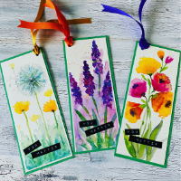 Watercolour Magic - Beautiful Bookmarks - Online Class