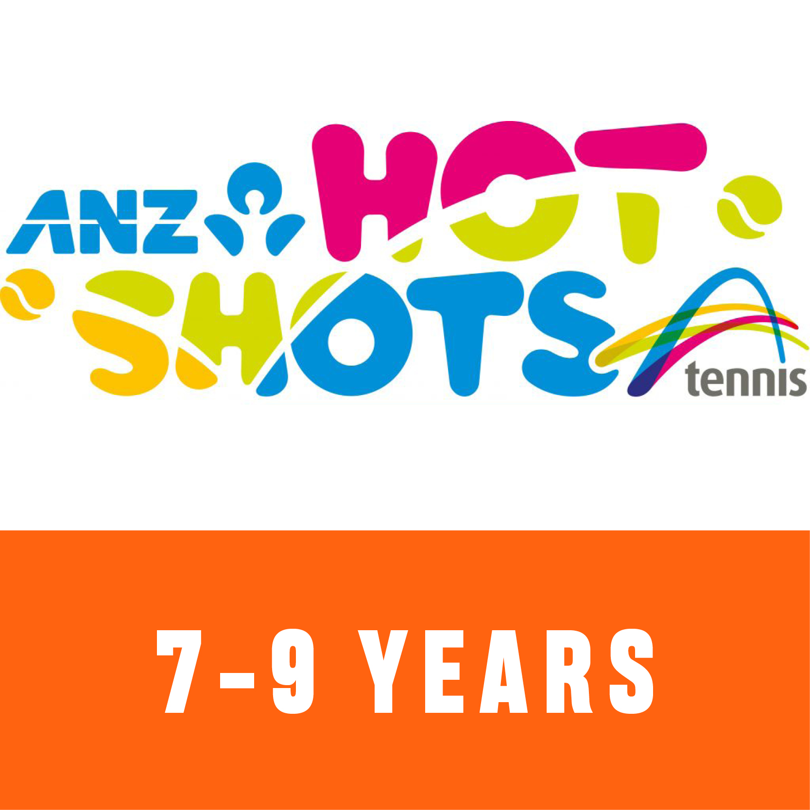ANZ Hot Shots Orange 7 to 9 years old